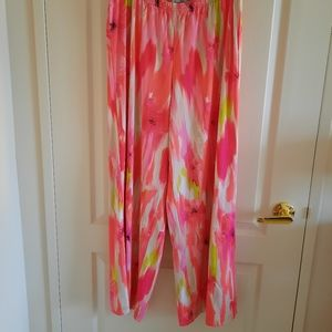 Women's Wide Leg Floral Print Pants